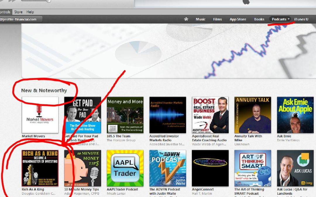 Rich As A King Podcast hits New & Noteworthy Chart on iTunes